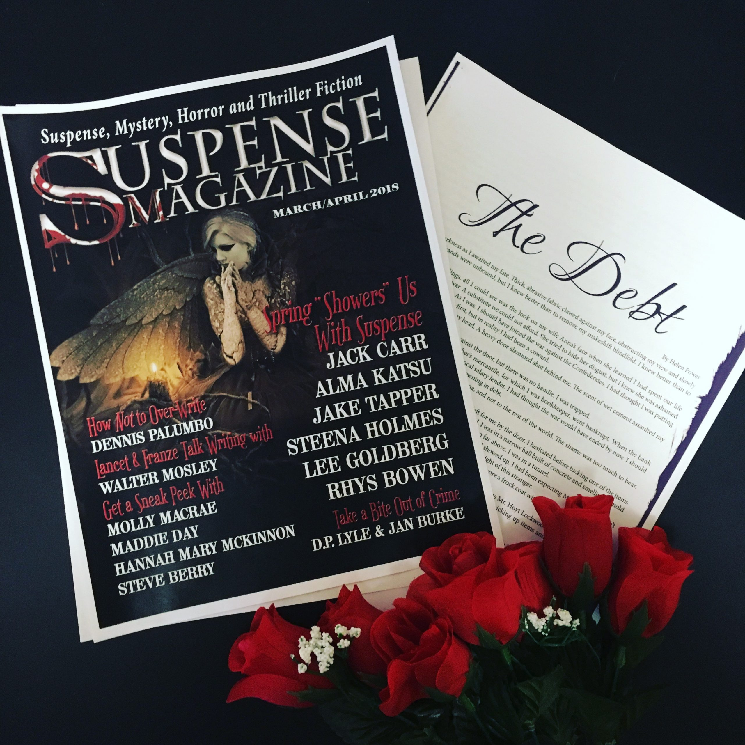 """My New Short Story: """"The Debt"""" is Published in Suspense Magazine"""