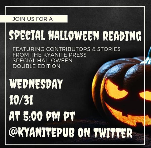 Online Author Reading this Halloween!