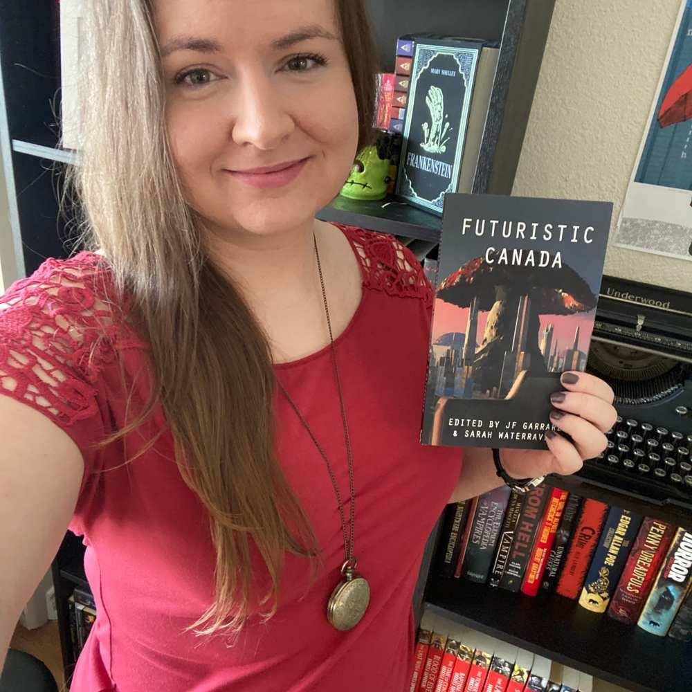 Selfie of Helen with book